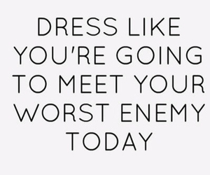 enemy, quote, and dress image