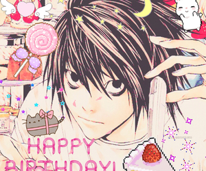 anime, birthday, and death note image