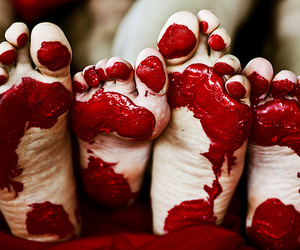 feet, red, and photography image