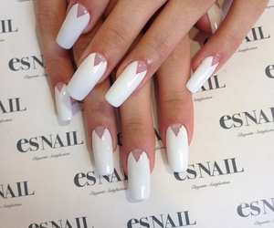 nails, pretty, and white image