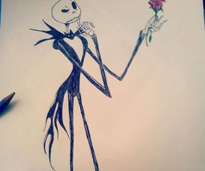 drawing, Halloween, and rose image