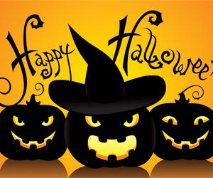 Halloween, pumpkin, and happy image