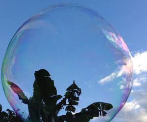 beauty, bubbles, and sky image