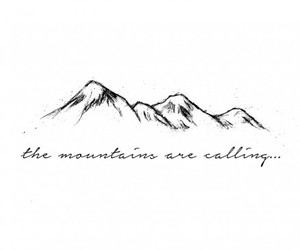 mountains, temporary tattoo, and illustration image