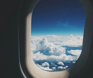 airplanes, blue, and clouds image