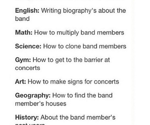 band, school, and funny image