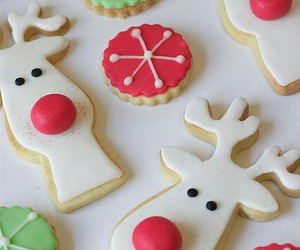 christmas, cokies, and dessert image