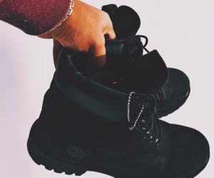 timberland, black, and shoes image
