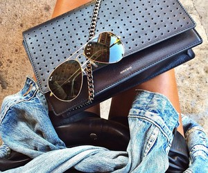 bags, black, and jeans image