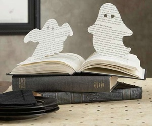 book, ghost, and Halloween image