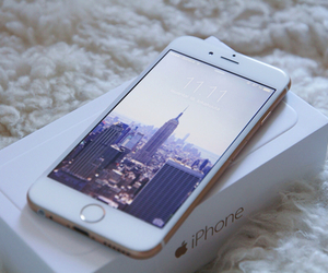 iphone, apple, and white image
