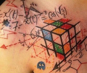 ink, tattoo, and cubic image