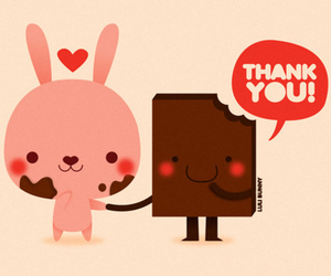 chocolate, thank you, and cute image