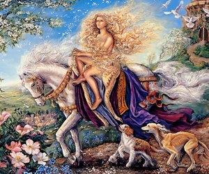 art, flowers, and lady godiva image
