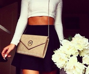 flowers, Michael Kors, and outfit image