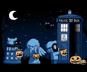 doctor who, pumpkin, and tardis image