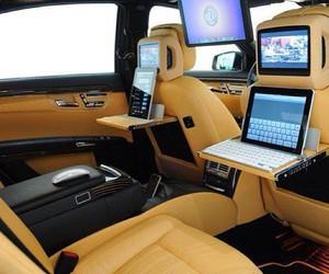 car, luxury, and ipad image