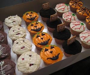 Halloween and cupcake image