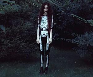 girl, Halloween, and cigarette image