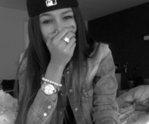 black and white, girl, and swag image
