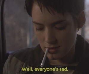 sad, winona ryder, and girl interrupted image