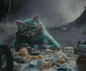 alice in wonderland and Cheshire cat image