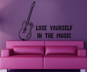 music, quitar, and wall decals image