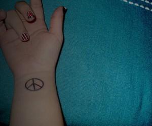 nails, peace, and tattoo image