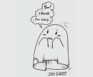 shy, ghost, and cute image