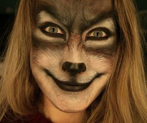 Halloween, make up, and werewolf image