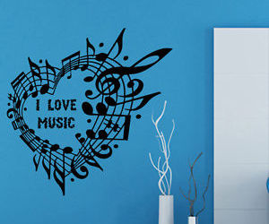 heart, words, and mural image