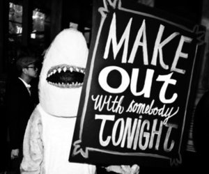 shark, make out, and sign image