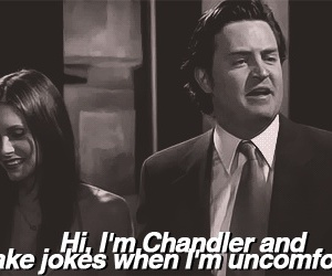 funny, chandler, and friends image