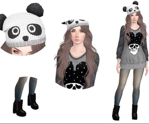 fashion, outfit, and sims 3 image
