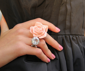 fashion, ring, and dress image