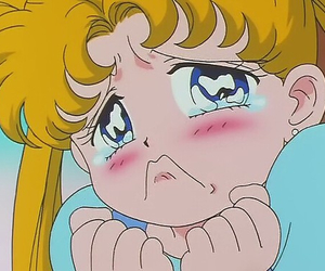 anime, sailor moon, and cry image