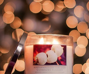candle, light, and marshmallow image