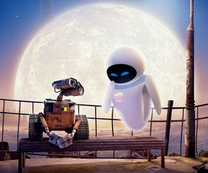 wall-e, disney, and eva image