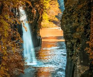 fall, lake, and water image