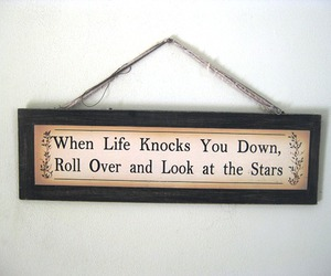 life, quote, and stars image