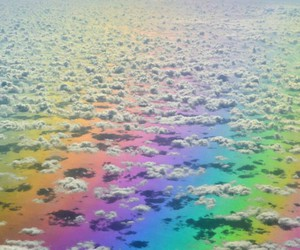 arcoiris, nubes, and clouds image