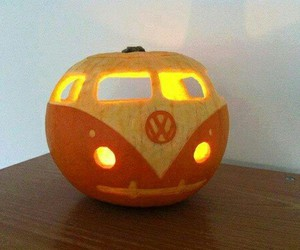 Halloween, pumpkin, and vw image