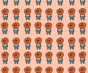background, orange, and happy halloween image