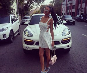 girl, fashion, and car image