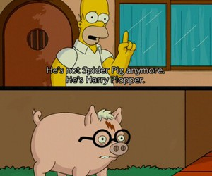 harry potter, simpsons, and the simpsons image