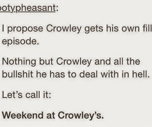 crowley, supernatural, and funny image