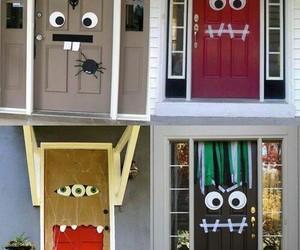 Halloween, diy, and door image