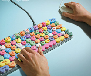 candy, heart, and keyboard image