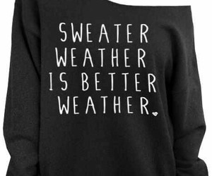 sweater weather and black on black image