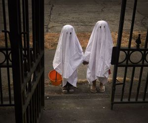 Halloween, ghost, and children image